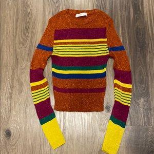 Zara Knit Metallic Sweater
